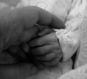 Leanne Bateson Arthur's hand